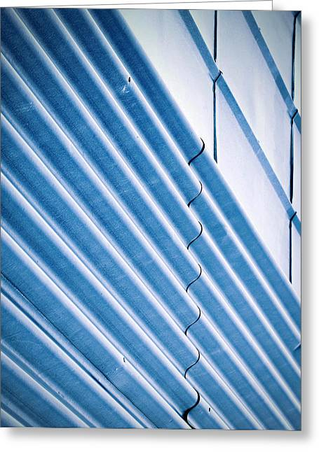 Blue Two Types Of Metal Wall Greeting Card by Jozef Jankola