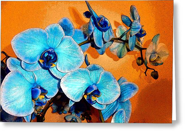 Ohio ist Digital Greeting Cards - Blue Vibrations Greeting Card by Mindy Newman