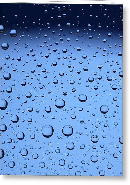 Bubbly Greeting Cards - Blue Water Bubbles Greeting Card by Frank Tschakert