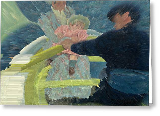 Blue Waters Greeting Card by David Bridburg