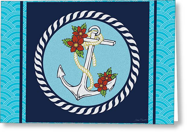 Sea Horse Greeting Cards - Blue Waters-JP2722 Greeting Card by Jean Plout