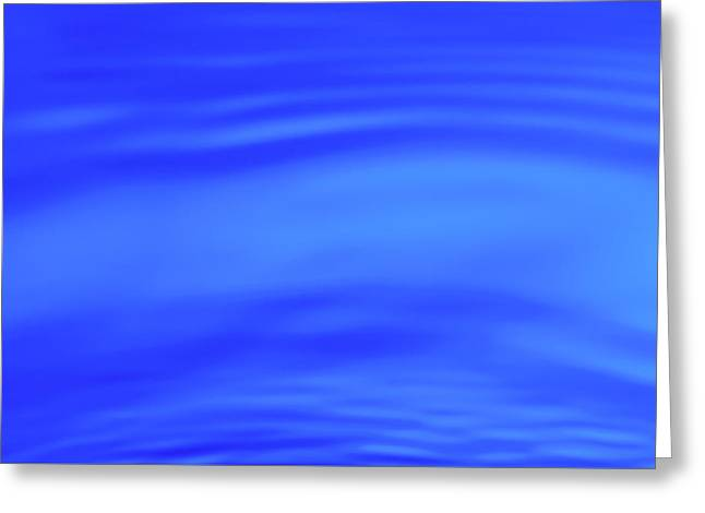 Blue Wave Abstract Number 4 Greeting Card by Steve Gadomski