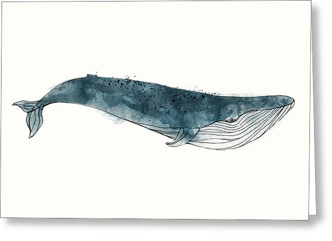 Blue Whale From Whales Chart Greeting Card by Amy Hamilton