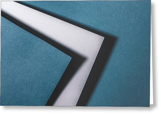 Blue White Blue Greeting Card by Scott Norris
