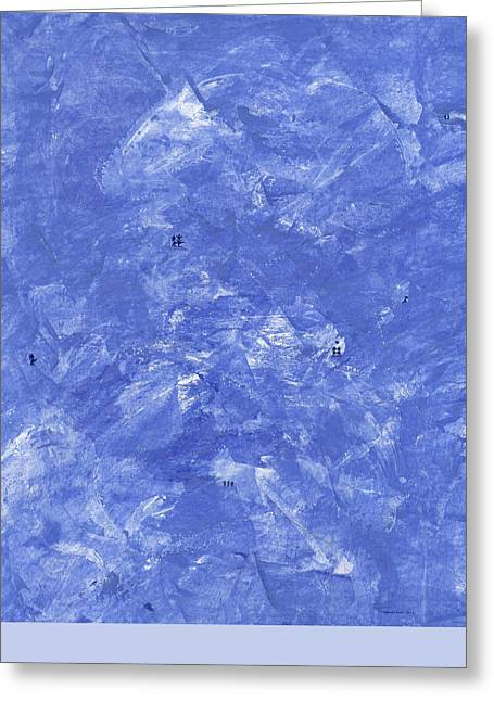Blue Winter Greeting Card by Manuel Sueess