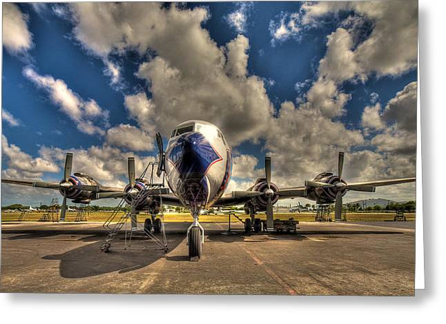 Passenger Planes Greeting Cards - Blue Yonder Greeting Card by William Wetmore