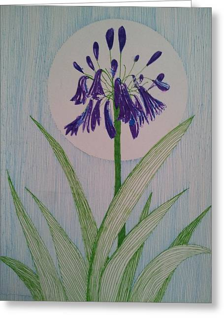 Transfer Drawings Greeting Cards - Bluebell flower Greeting Card by William Douglas