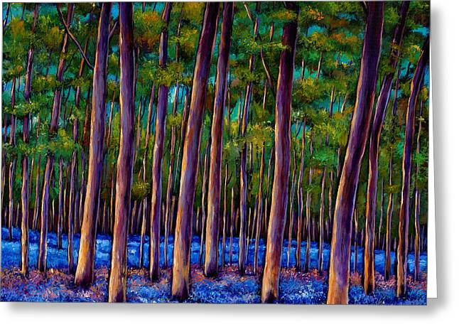 Bluebell Wood Greeting Card by JOHNATHAN HARRIS
