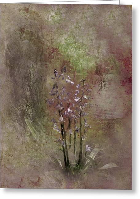 Floral Digital Art Digital Art Greeting Cards - Bluebells by the Pond Greeting Card by Rachel Thompson