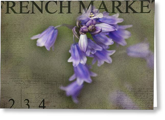 Texture Flower Greeting Cards - Bluebells Greeting Card by Rebecca Cozart