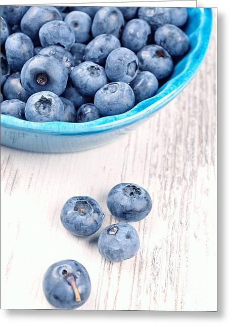 Berry Greeting Cards - Blueberries Greeting Card by Andreas Berheide