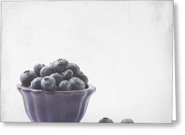 Gift Ideas For Him Greeting Cards - Blueberries Greeting Card by Mingtaphotography