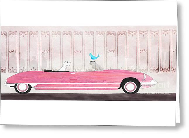 Quirky Drawings Greeting Cards - Bluebird Greeting Card by J Ripley Fagence