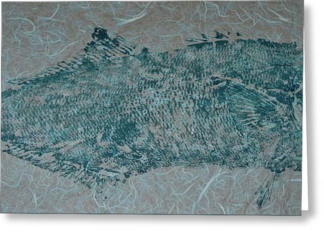 Bluefish - Chopper- Aligator Blue - 2 Greeting Card by Jeffrey Canha