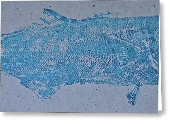 Bluefish - Chopper- Aligator Blue - Greeting Card by Jeffrey Canha