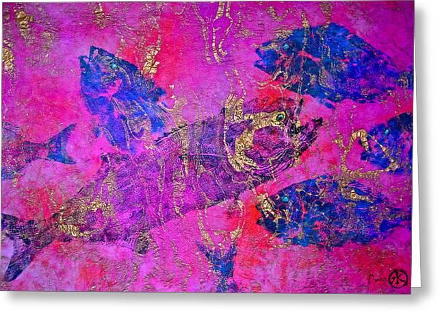 Bluefish Mascara - Maurada - Food Chain Greeting Card by Jeffrey Canha