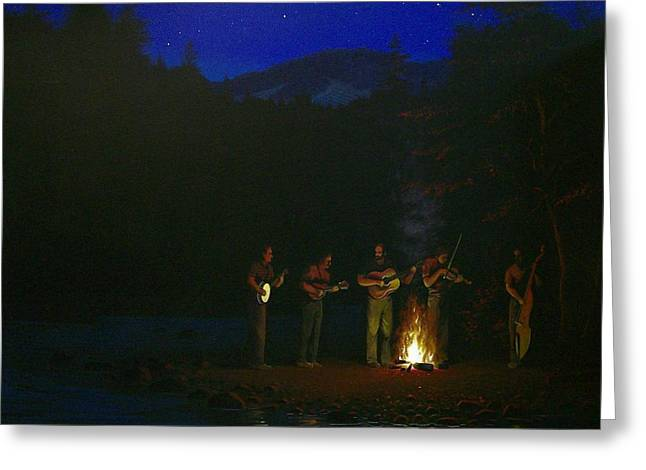 Bluegrass Greeting Cards - Bluegrass on the River Greeting Card by Jeremy Sams