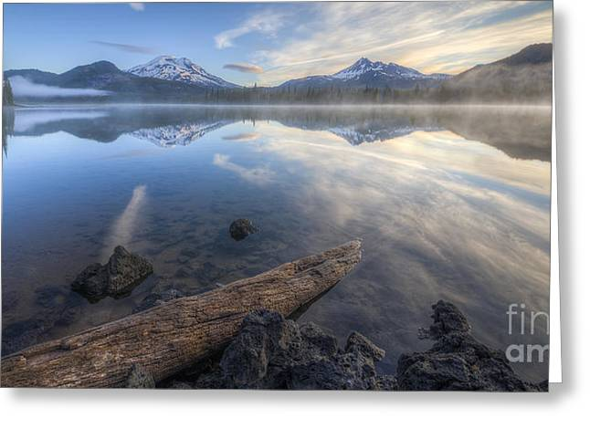 Oregon Photos Greeting Cards - Blues at Sparks Lake Greeting Card by Twenty Two North Photography