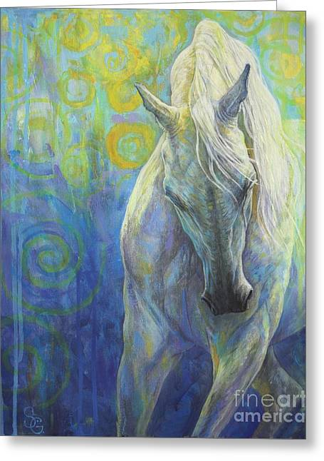 Equus Greeting Cards - Blues Fighter Greeting Card by Silvana Gabudean