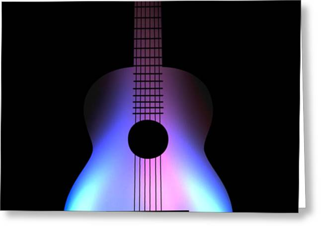 Blues Guitar on Fire Greeting Card by Andy Smy