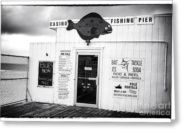 Casino Pier Greeting Cards - Blues Now Greeting Card by John Rizzuto
