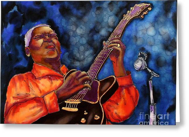 Celebrities Tapestries - Textiles Greeting Cards - Blues Vibe Greeting Card by Linda Marcille