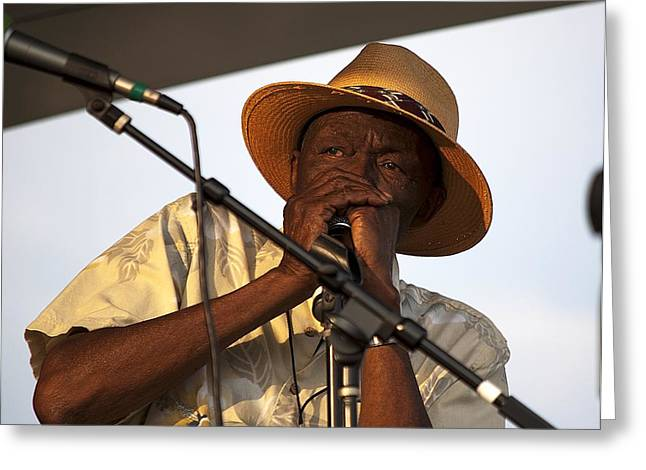 Legendary Music Singers Greeting Cards - Bluesman2 Greeting Card by Kenneth Albin