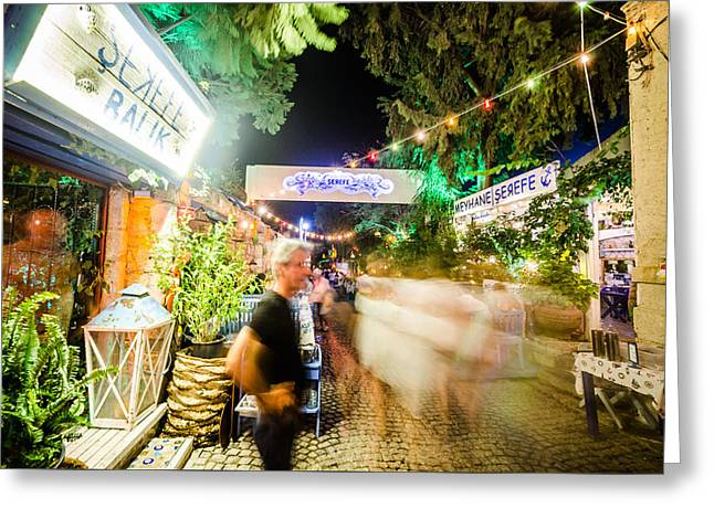 Exposure Greeting Cards - Blur of Action in Alacati Greeting Card by Anthony Doudt