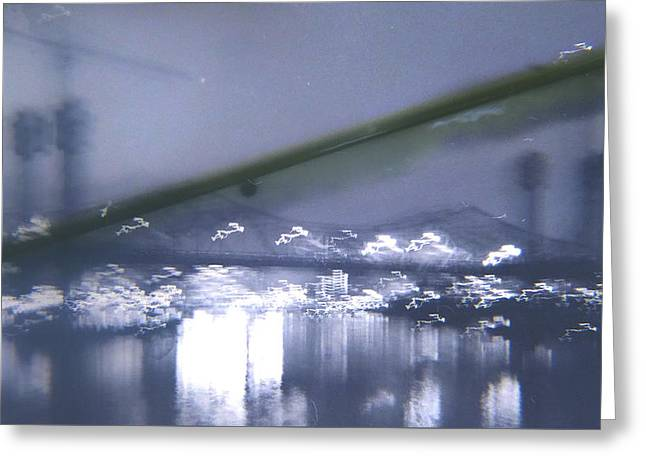 Manual Greeting Cards - Blurry Night  Greeting Card by James Johns