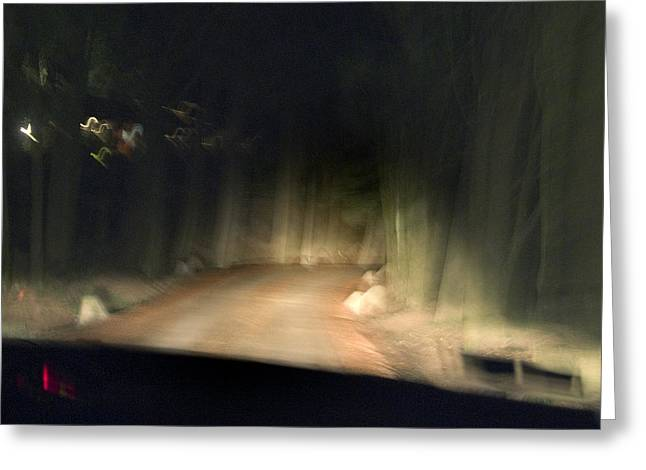 Chianti Greeting Cards - Blurry Tuscan Road Seen Greeting Card by Todd Gipstein