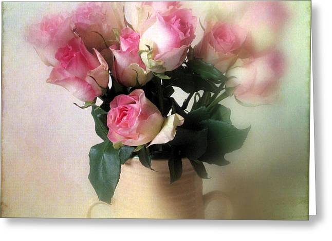 Flower Still Life Greeting Cards - Blush Greeting Card by Jessica Jenney