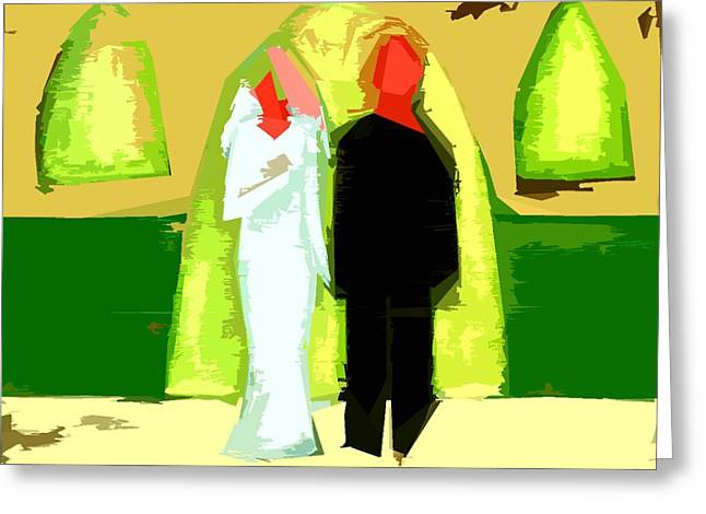 Relarionship Greeting Cards - Blushing Bride And Groom 2 Greeting Card by Patrick J Murphy