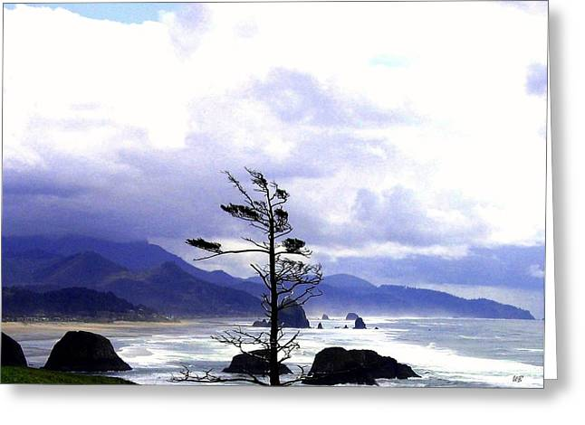 Blustery Greeting Card by Will Borden