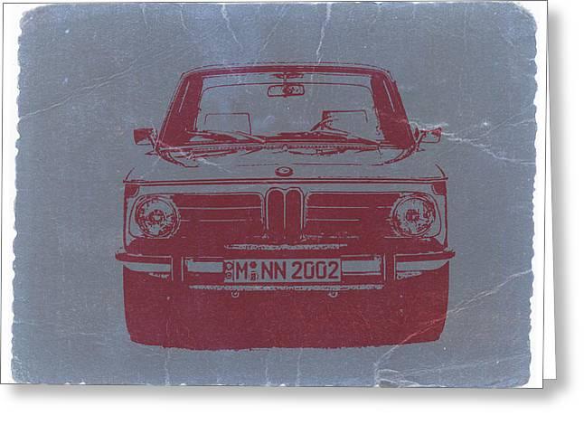 BMW 2002 Greeting Card by Naxart Studio