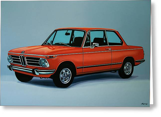 Bmw 2002 1968 Painting Greeting Card by Paul Meijering