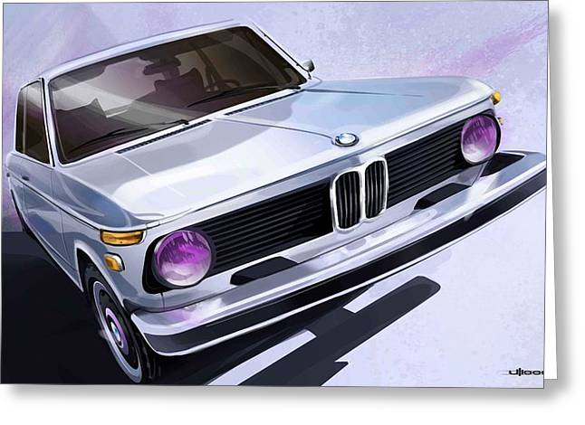 Photoshop Greeting Cards - Bmw 2002 Greeting Card by Uli Gonzalez
