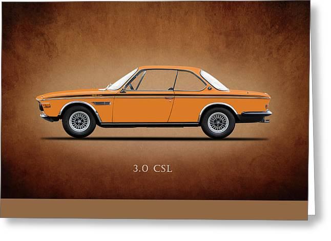 Electric Car Greeting Cards - Bmw Csl 1972 Greeting Card by Mark Rogan