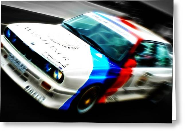 D700 Greeting Cards - BMW E30 M3 Racing Greeting Card by Phil