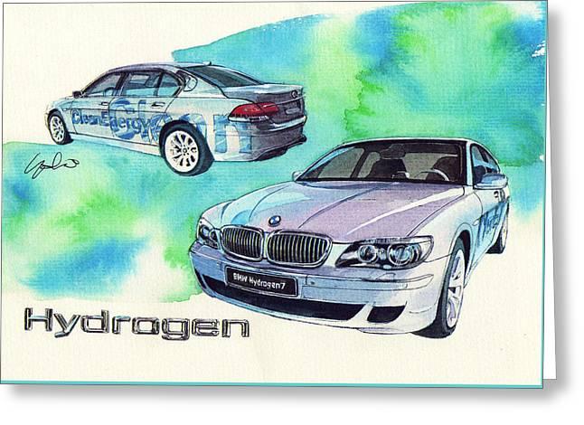 Bmw Hydrogen 7 Greeting Card by Yoshiharu Miyakawa