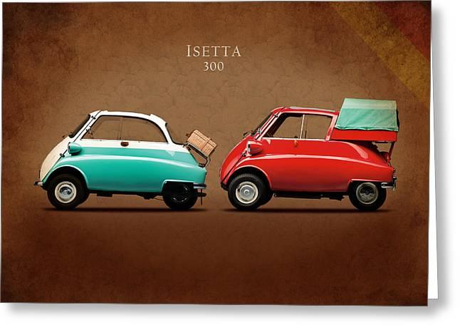 Bmw Vintage Cars Greeting Cards - BMW Isetta 300 Greeting Card by Mark Rogan