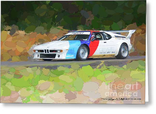 Bmw M1 Greeting Card by Roger Lighterness