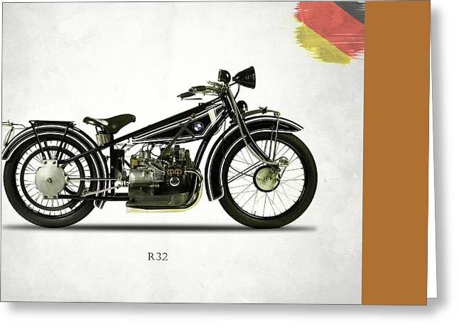 Motorcycle Greeting Cards - Bmw R32 1923 Greeting Card by Mark Rogan