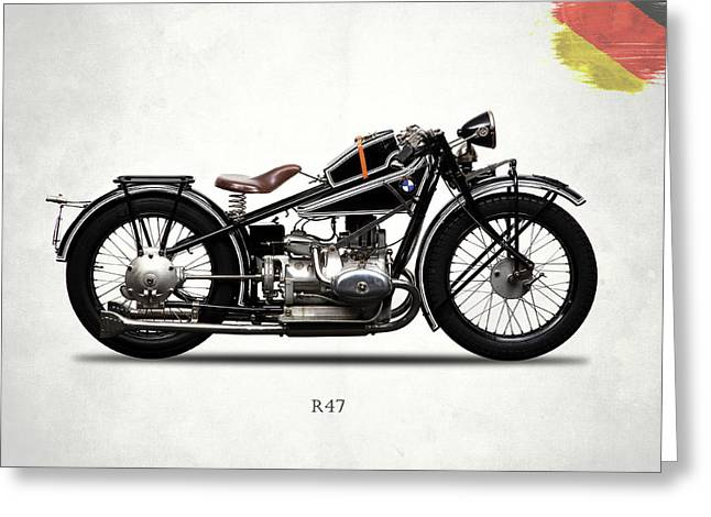 Bmw R47 1927 Greeting Card by Mark Rogan