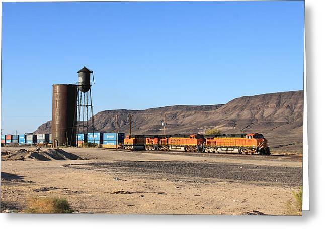 Burlington Northern Greeting Cards - BNSF 5050 Yucca AZ Greeting Card by Troy Montemayor
