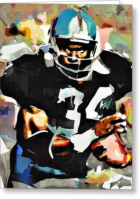 Bo Jackson Greeting Card by Bob Smerecki