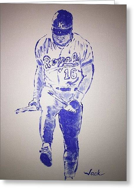Bo Jackson Greeting Card by Jack Bunds
