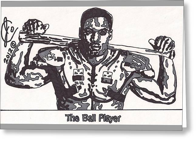 Bo Jackson The Ball Player Greeting Card by Jeremiah Colley