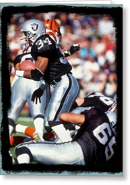 Bo Jackson Greeting Cards - Bo Knows Greeting Card by Jerry Coli