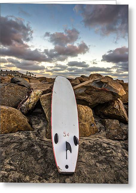 Long Boards Greeting Cards - Board 54 Where Are You Greeting Card by Peter Tellone