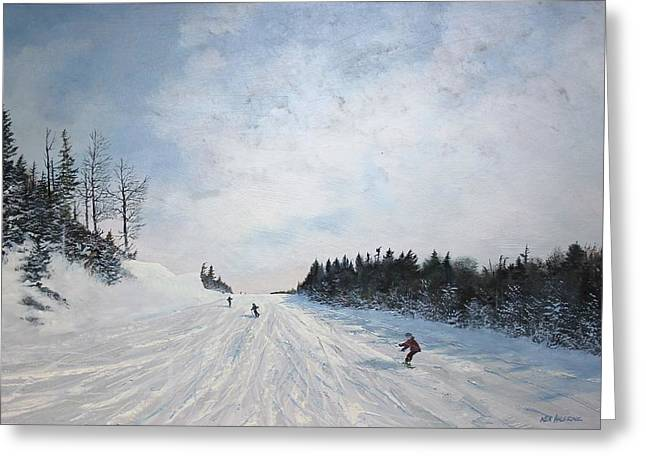 Boarder Line Greeting Card by Ken Ahlering
